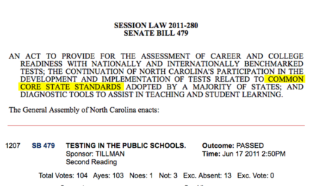 "The Only ""No"" Vote Against Common Core"