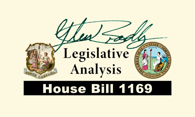 NCGA HB 1169 | Analysis by Glen Bradley